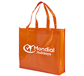 Branded Monaco Shiny Laminated Shopper Tote Bag
