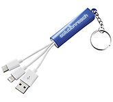 Route 3-in-1 Keyring Charging Cable