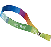 Deluxe Dye Sub Fabric Wristband - Metal Closure