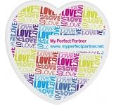 Heart Shaped Acrylic Coaster