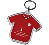 T-Shirt Shaped Printed Acrylic Keyring
