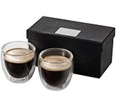 Milano 2-Piece Glass Espresso Set