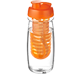 H20 Splash 600ml Flip Top Fruit Infuser Water Bottle
