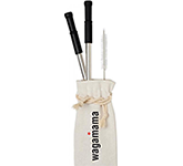 Corsica Reusable Stainless Steel Straw Set
