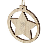 Star Wooden Christmas Tree Ornament