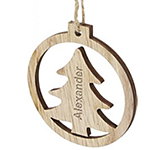 Spirit Wooden Christmas Tree Ornament