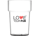 Festival Reusable Plastic Stackable Half Pint Beer Glass - 284ml