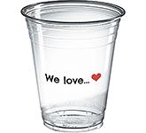 Festival Disposable PET Plastic Smoothie Cup - 400ml