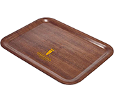 Sherwood Mahogany Veneer Wooden Serving Tray - 480 x 370 mm