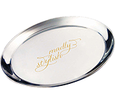 Dorchester Round Stainless Steel Serving Tray - 300 mm