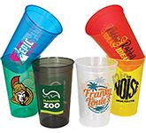 Wembley Plastic Translucent Stadium Cup - Pint - 568ml