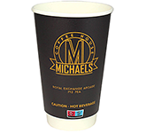 Enviro Recyclable Double Walled Paper Cup - Full Colour - 455ml