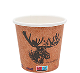 Enviro Recyclable Single Walled Paper Cup - Full Colour - 115ml