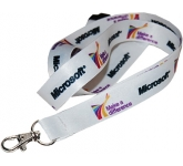 10mm Dye Sublimation Flat Polyester Lanyards