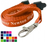 10mm Flat Polyester Lanyards