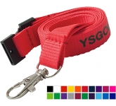15mm Flat Polyester Lanyards