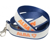 15mm Glitter Covered Polyester Lanyard