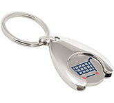 Wishbone Trolley Coin Pound Keyring