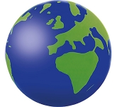 Printed Globe Stress Ball