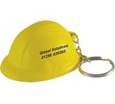 Hard Hat Keyring Stress Toy