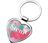 Devotion Polished Chrome Keyring