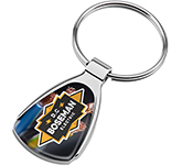 Athena Polished Chrome Keyring