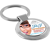Shimmer Polished Chrome Keyring