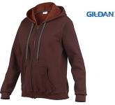 Gildan Heavy Blend Vintage Ladies Zipped Hoodie