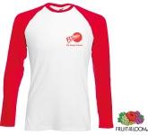 Fruit Of The Loom Long Sleeved Baseball T-Shirt