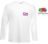 Fruit Of The Loom Long Sleeved Value Weight T-Shirts - White