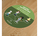 Round Anti-Slip Social Distancing Floor Stickers - 400mm