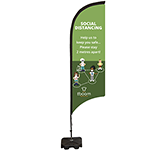 Social Distancing Feather Flag Banner - Medium