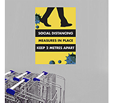 Social Distancing Polyprop Poster - A2