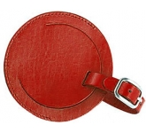 Warwick Round Leather Luggage Tag