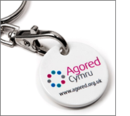 Endless promotions with printed trolley coin keyrings
