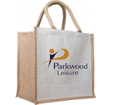 Maple Two Tone Natural Jute Gift Bag
