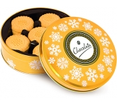 Christmas Gold Share Tins - All Butter Shortbread Biscuits