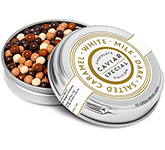 Winter Collection Caviar Tin - Chocolate Pearls