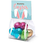 Eco Block Bag - Foiled Chocolate Eggs - Mini