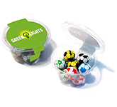 Eco Maxi Pots - Foil Wrapped Chocolate Footballs