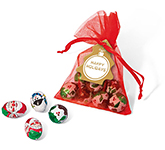 Organza Bags - Christmas Chocolate Mix