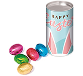 Eco Snack Tube - Foiled Chocolate Eggs - Small