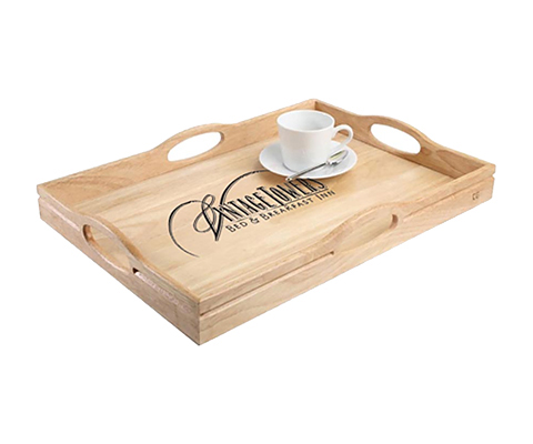 Dalby Solid Wooden Beech Serving Tray - 500 x 360 mm