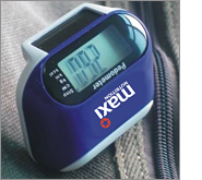 Get your new clients and customers to walk right into your office with printed pedometers!