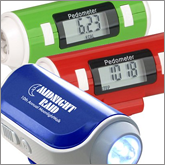 Use printed pedometers to boost brand awareness