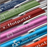 Perceived value is significantly higher when it comes to cheap promotional metal pens