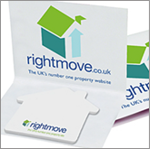 Catch their eye! with stunning promotional shaped sticky notes
