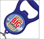 Eye-catching keyring bottle openers are sure to grab significant interest