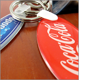 Boost your brand and important message with promotional keyrings