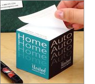 Post-it pads are perfect for low cost marketing offering amazing brand impact